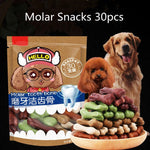 Dog Molar Snacks Delicious Mixed Flavors Clean Teeth Deodorant Sticks Dog Treats Snacks for Small Large Dogs Pet Supplies 30pcs