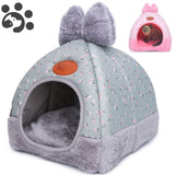 Dog Cat Beds for Small Medium Pet, Cat Bed Dogs Beds Nest House for Dog Sofa Warming Dogs House Winter Kennel for Puppy BD0153