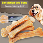 New Pet Dog Toy Supplies Chews Toys Leather Cowhide Bone Molar Teeth Clean Stick Food Treats Dogs Bones for Puppy Accessories 35