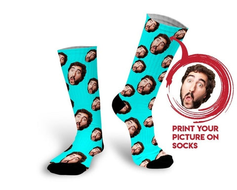 Original Customized Printed Custom Sock Unique Personal Pets Face Socks Birthday Christmas Gifts Couple Lover Socks Present Sock