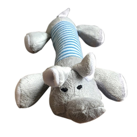 25cm Dog  Pet Chew Toys Soft Fleece Durability Vocalization Dolls Bite Squeak Toys Pig Duck Elephant Shape Dog Accessories