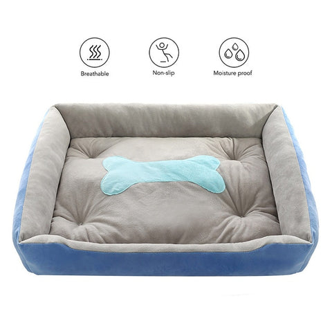 Bone Type Pet Dog Bed Dog House Mat Warming Dog House Soft Nest Sleeping Warm Kennel Pet Supplies for Cat Puppy for Animal
