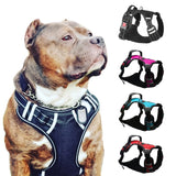 Big Dog Harness Breathable No Pull Small Medium Large Dog Vest Adjustbale Matching Leash Collar Reflective Pet Training Supplies