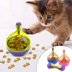 Tumbler Pet Toy For Cats Dogs Treat Ball Smarter Pet Toys Food Ball Food Dispenser For Cat Dog Playing Training Toy Pet Supplies