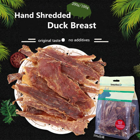 Pet Dog Snacks Hand Shred Duck Breast Pure Meat Jerky Dog Treats No Additives Molar Clean Teeth Training Rewards Pet Supplies