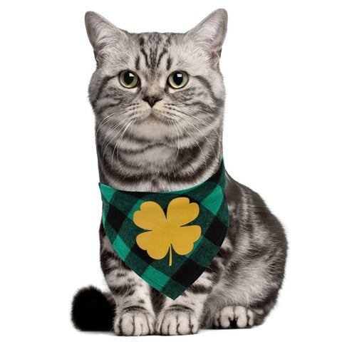 HobbyLane St. Patricks Day Pet Bandanas Printing Triangular Scarf for Dogs Cats Wear Pet Decoration Beauty