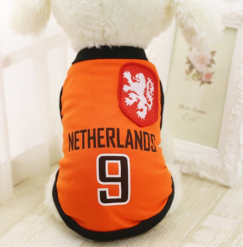 New Dog Summer Vest Basketball Teams puppy T-Shirt Spring Small Middle Large Dogs Clothes XS to 6XL Pet Products Clothing