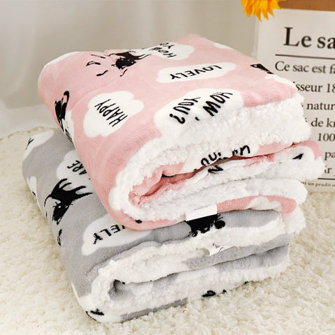 Winter Dog Bed Pet Blanket Pet Sleeping Mat Warm Cat Dog Bed Cover Pet Sofa Cushion Mattress For Small Dogs Chihuahua Bulldog