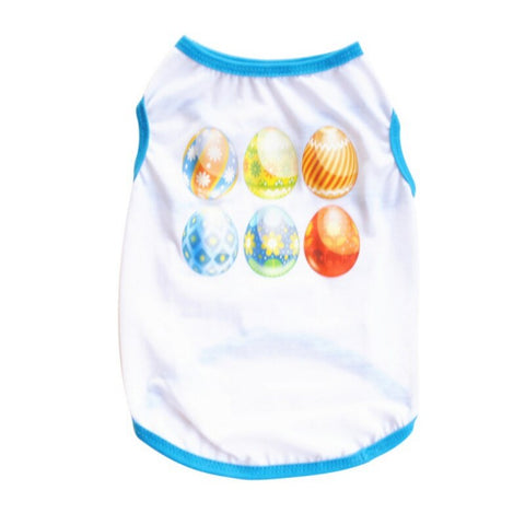 Fashion Pet Vest Dog Cat Easter Day Style Printed T Shirt Summer Puppy Kitten Apparel Clothing Supplies XS S M L