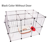 Pet Playpen Iron Fence Collapsible Puppy Kennel House Exercise Security Gate Dogs Supplies Cat Crate Rabbits Guinea Pig Cage