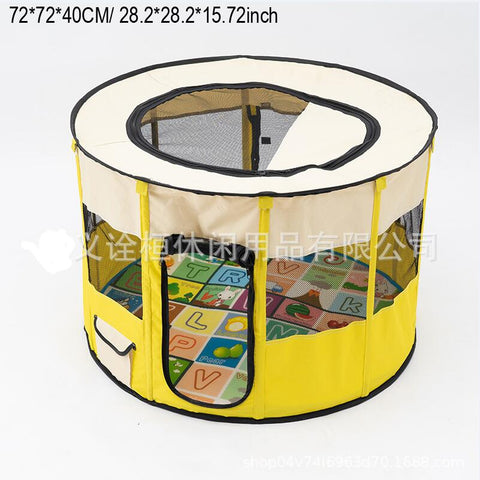 72X72X40CM Portable Outdoor Kennels Fences Pet Tent Houses Small Dogs Foldable Playpen Indoor Puppy Cage Dog Crate Delivery Room