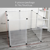 Petshy Cat Dog Cage House DIY Anti-jumping Isolation Outdoor Indoor Large Cats Kitten Puppy Rabbit Animal Pet Fence Crate Kennel