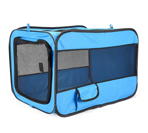Portable Fast Folding Dog Kennel Outdoor Indoor Dogs New Crate Fences House Cage Water Resistant Mesh Shade Pet Cat Playpen Beds