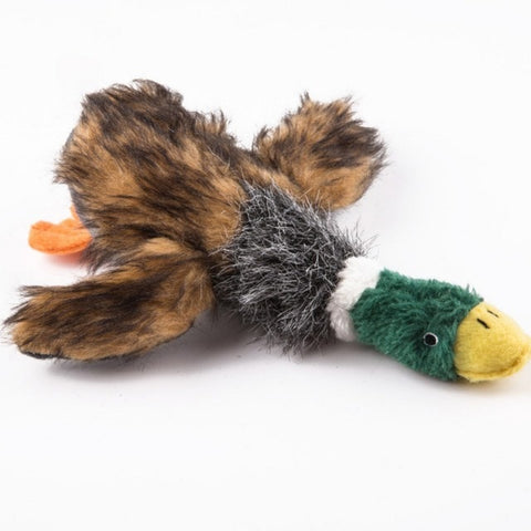 Dog Toys Squirrel Pet Toys Plush Puppy Chew Animals Squirrel Duck Shaped Squeak