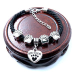 2018 New Hand Woven 8 Colors Rope Chain Bracelet for women Best Friend Dog Paw Charm Bracelet for Pet Lovers Wholesale B005