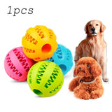 Pet Dog Toy Clean Tooth Ball Puppy Decompression Elastic Rubber Ball Dog Toy Pet Toy