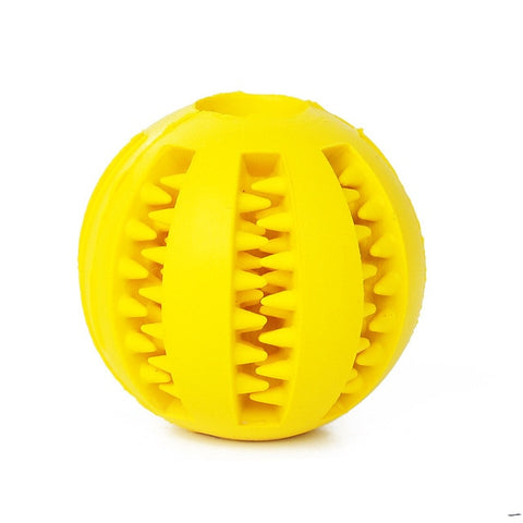 Pet Dog Rubber Ball Funny Toy Feed Tool Teeth Chew Treat Dogs Play Toy Training Dental  Dispensing Holder