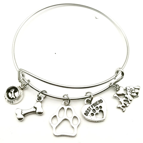 New Mini I Love My Dog Bracelet Best Friend Fashion Pet Steel Bracelet Female Jewelry Gift