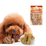 Pet Dog Toy Supplies Chews Toys Leather Cowhide Bone Molar Teeth Clean Stick Food Treats Dogs Snack for Puppy Accessories 10E