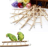 Bird Toys Wooden Ladders Rocking Scratcher Perch Climbing 3/4/5/6/7/8 Stairs Hamsters Bird Cage Parrot Pet Toys Supplies #0929