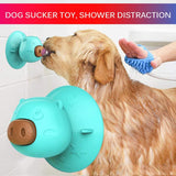Dog Lick Toy with Three Treats Suction Cup Dog Lick Pad for Pet Bathing Grooming and Dryin ,Dog Washing Distraction Device