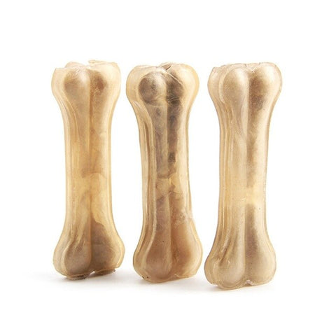 Dog Chews Toys Pet Toy Supplies Leather Cowhide Bone Molar Teeth Clean Stick Food Treats Dogs Bones for Puppy Accessories