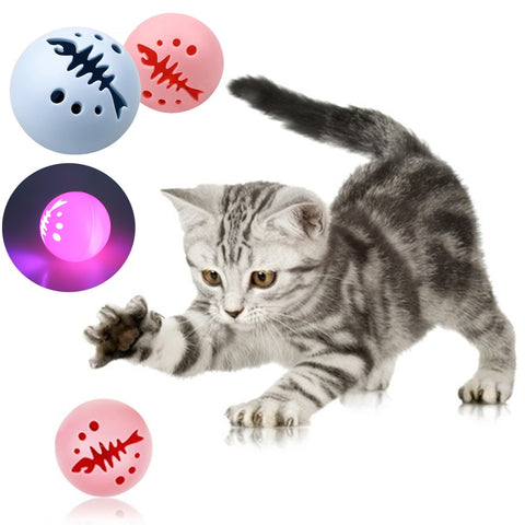 Pet Ball Toy 3pcs/set Led Flash Jumping Ball Cat Dog Electric Rolling Balls Toy Smart Luminous Bell Balls Pets Bite Chew Toys