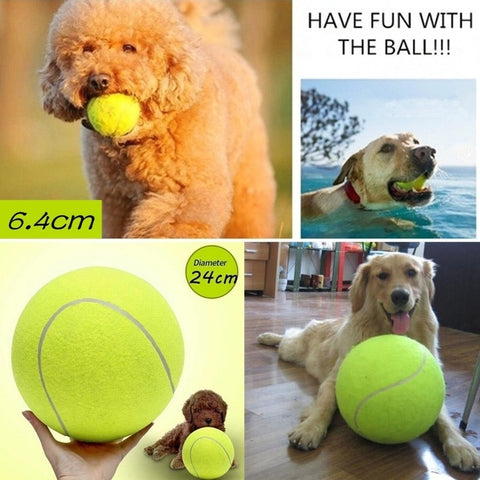 Diameter 24cm Dog Tennis Ball Giant Pet Toys for Dog Chewing Toy Signature Mega Jumbo Kids Toy Ball For Dog Training Supplies