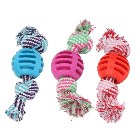 Pet Dog Toys Dogs Chew Teeth Clean Outdoor Traning Fun Playing Rope Ball Toy For Large Small Dog Cat Pet Supplies