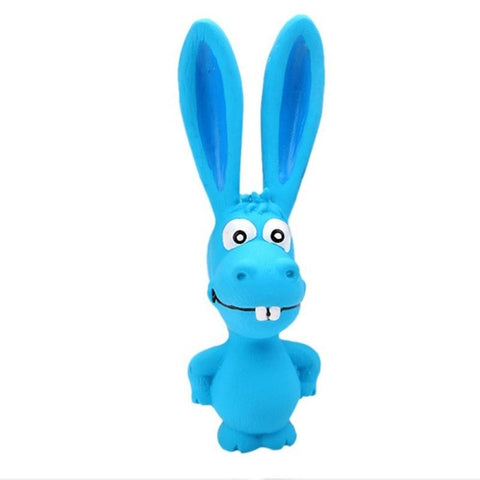 LumiParty Toy for Pet Dogs Puppy Screaming Rubber Rabbit Toy Latex Squeaker Chew Training Tools