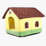 Rodents Dogs Rabbits Beds Tent Cave Bed Pet House Fabric Pet Covers Solid Colored Portable Tent Yellow Red Pink