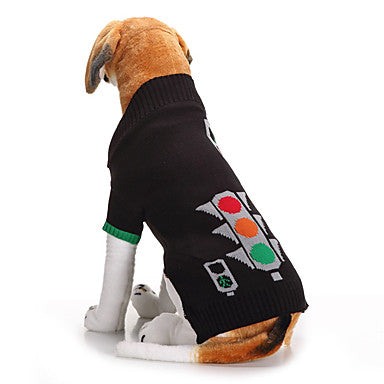 Dogs Sweater Winter Dog Clothes Black Costume Corgi Beagle Shiba Inu Acrylic Fibers Geometic Casual / Daily XS S M L XL XXL