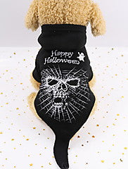 Dogs Outfits Winter Dog Clothes Black Halloween Costume Polyster Skull Holiday Funny XS S M L XL XXL