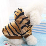 Dog Costume Coat Hoodie Winter Dog Clothes Brown Costume Flannel Fabric Animal Party Cosplay Fashion XS S M L XL XX