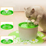 Interactive Bowls & Water Bottles Water Fountain Dog Cat Pet Toy 1pc Pet Friendly Flower Plastic Gift
