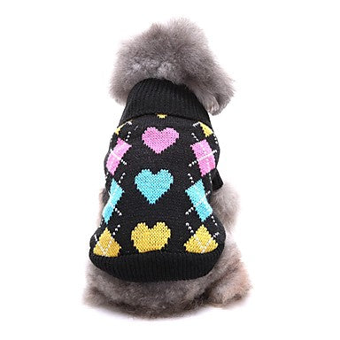 Dogs Sweater Winter Dog Clothes Black Gray Costume Corgi Beagle Shiba Inu Acrylic Fibers Love Casual / Daily XS S M L XL XXL