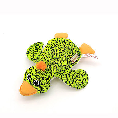 Chew Toy Squeaking Toy Teeth Cleaning Toy Dog Pet Toy Animals Embroidery Duck Polyester Plush Fabric Cotton Gift