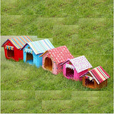 Cat Dog Bed Tent Cave Bed Pet House Fabric Pet Mats & Pads Solid Colored Stripes Portable Warm Foldable Yellow Coffee