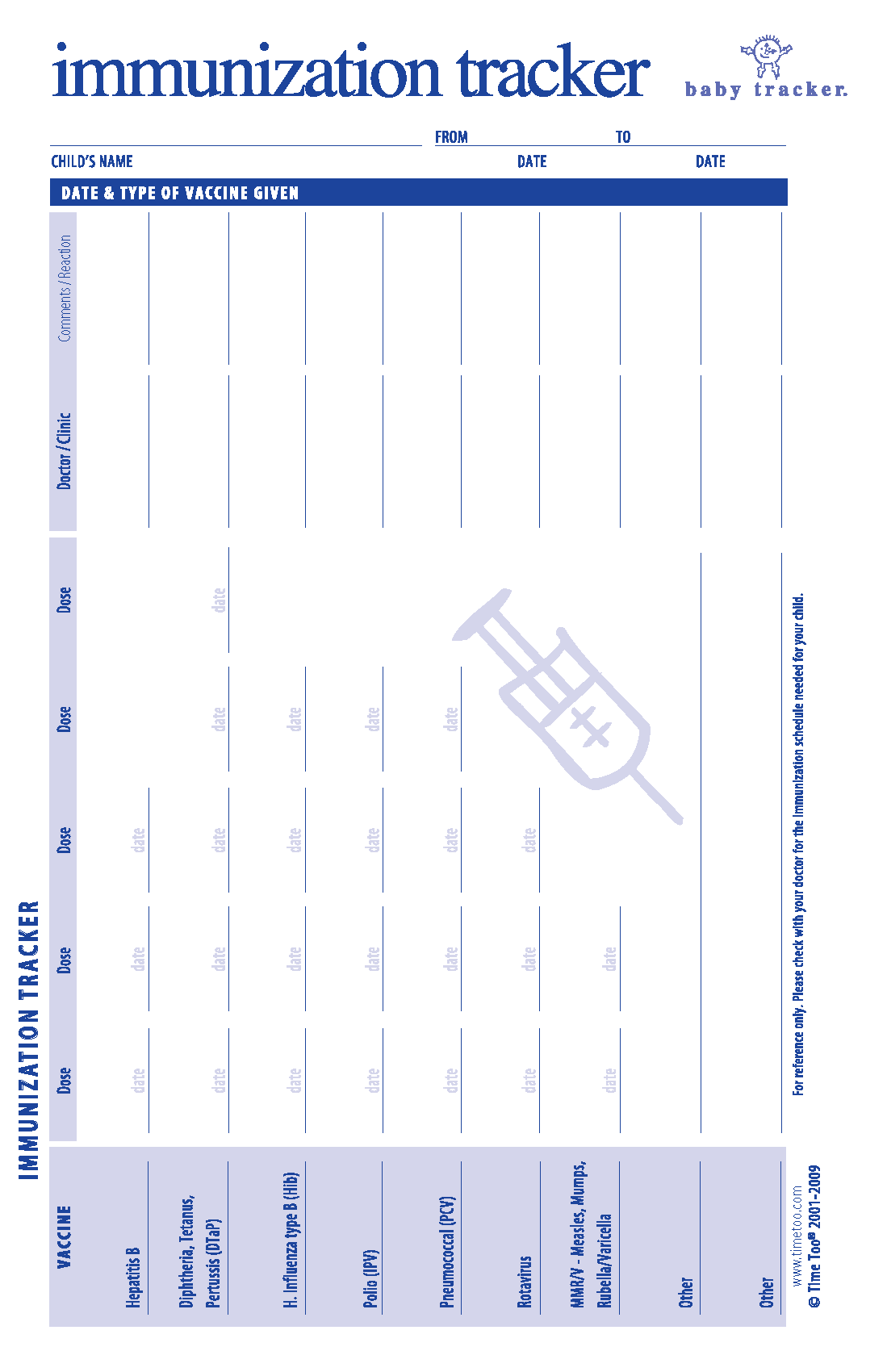 health record template