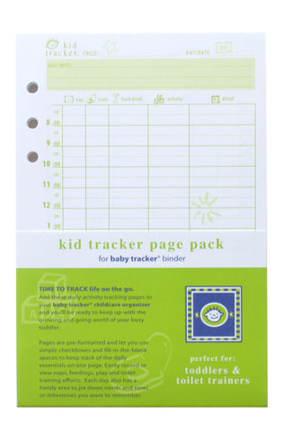 Kid Tracker Page Pack Refill for Baby Tracker Binder