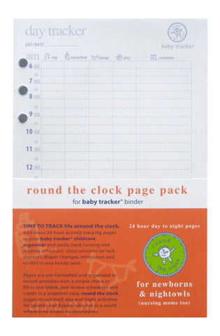 Round the Clock Baby Tracker Page Pack Refill Side 1