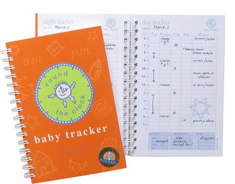 Round the Clock Baby Tracker Journal  Night and Day Page Views