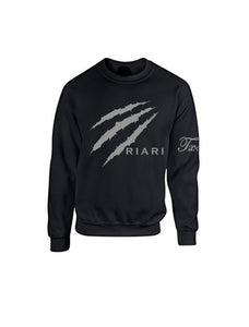 Black Sweatshirt - Reflective Print