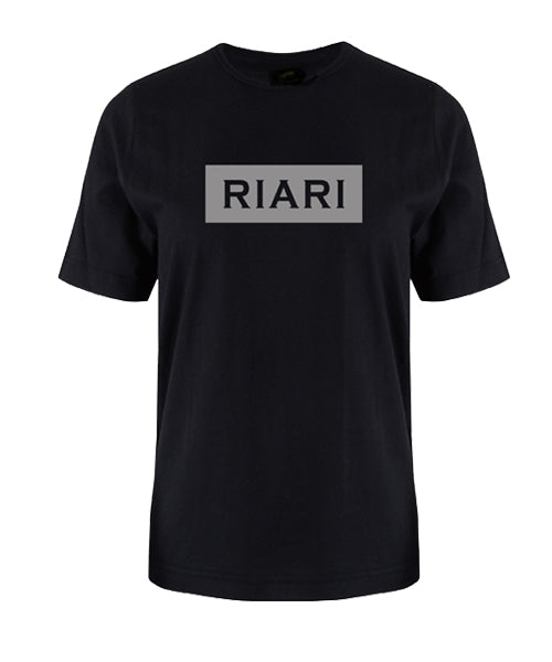 Black Tee - Block Logo - Reflective
