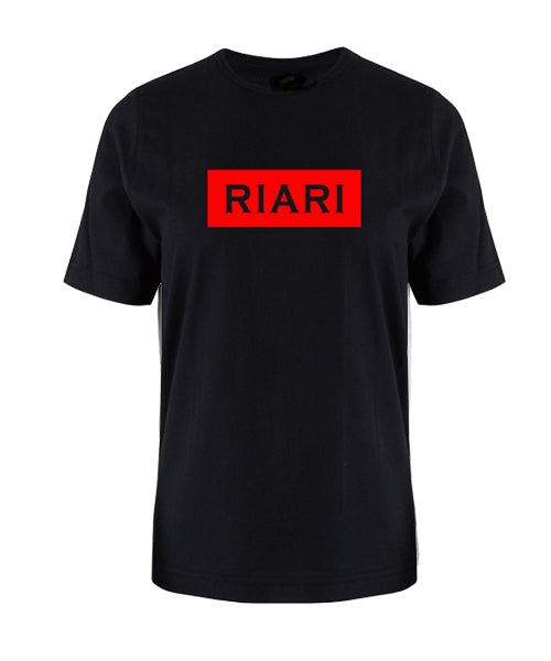 Black Tee - Block Logo - Red