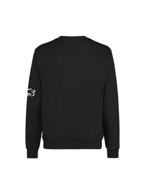 Black Sweatshirt - White Print