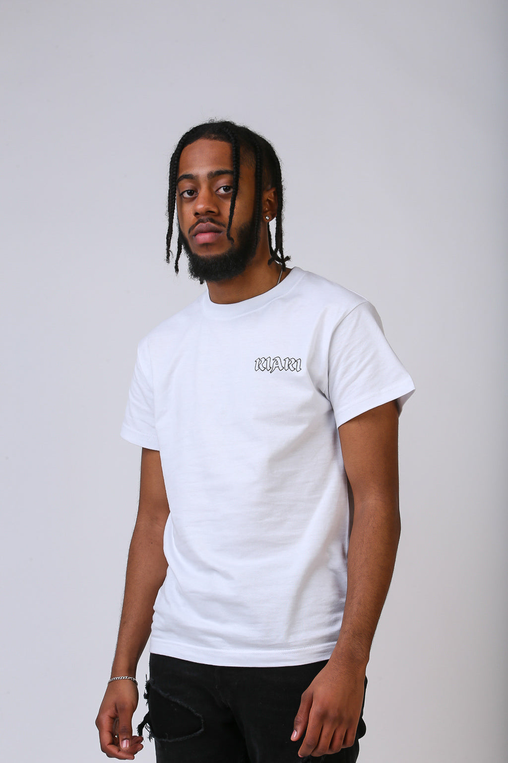 White Rich Rose Tee