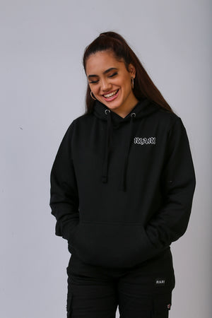 Black Rich Rose Hoodie - Regular Fit