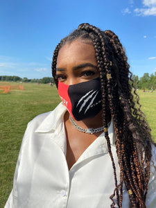 Black/Red 'Stay Safe' Mouth Mask