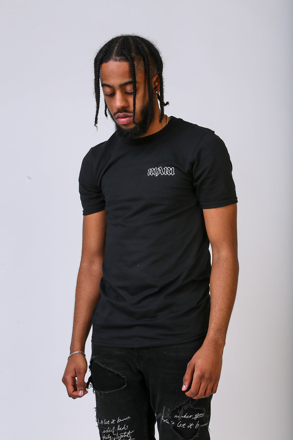Black Rich Rose Tee